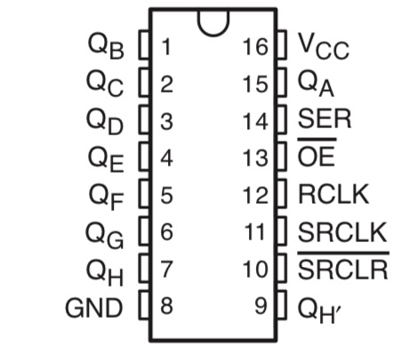 Arduinoで 74HC595 (Arduinoでデジタルアウトを増やす)
